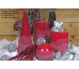 Lima Artic sviečka červená ihlan 75 x 250 mm 1 kus