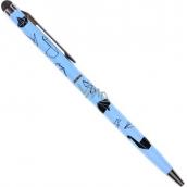 Albi Prepisovačka sa stylusom Origami na modrom
