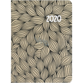 Albi Diár 2020 týždenný Čierne listy 17 x 12,5 x 1,2 cm