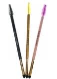 Kozmetický štetec na očné tiene s kefkou na obočie rôzne farby 1 kus 322