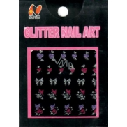 Absolute Cosmetics Nail Art samolepící nálepky na nehty 10100 GNA-1 1 aršík