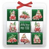 Nekupto Čokoládové puzzle vianočné, Autá 9 x 5 g, 11 x 11,5 x 0,7 cm