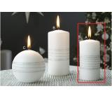Lima Exclusive sviečka strieborná valec 50 x 100 mm 1 kus