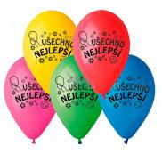 """Balóniky """"Všetko najlepšie"""", 26 cm, 10 kusov v balení, mix farieb"""