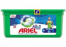 Ariel All in 1 Pods Active Deo-Fresh gélové kapsule na pranie bielizne 30 kusov 753 g