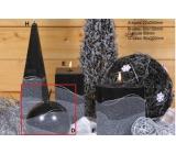 Lima Artic sviečka čierna guľa 100 mm 1 kus