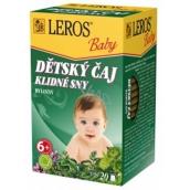 Leros Baby Pokojné sny bylinný čaj pre deti 20 x 1,5 g