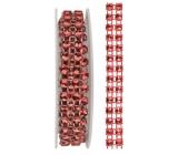 Dekorační řetěz červený, 1 x 75 cm