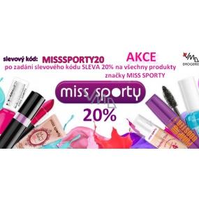 DÁREK Sleva 20% na produkty Miss Sporty, V košíku zadej kód MISSSPORTY20 - Akce platí celý měsíc červen