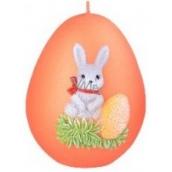 Zajačik II. veľkonočné sviečka metal mat oranžová vajíčko 60 mm