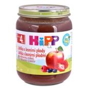 Hipp Ovocie Bio Jablká s lesnými plodmi ovocný príkrm, znížený obsah laktózy a bez pridaného cukru pre deti 125 g