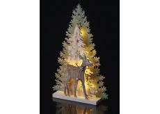 Emos Dekorácie les a srnka na postavenie 33 x 22 cm - 10 LED teplá biela