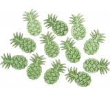 Ananás drevený zelená 4 cm, 12 kusov