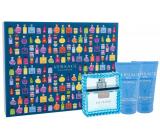 Versace Eau Fraiche Man toaletná voda pre mužov 50 ml + balzam po holení 50 ml + sprchový gél 50 ml, darčeková sada