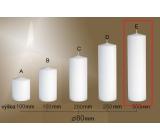 Lima Gastro hladká svíčka bílá válec 80 x 300 mm 1 kus