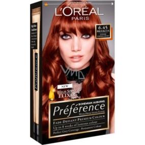 Loreal Paris Préférence recitál farba na vlasy 6.45 brooklyn Intenzívne medená hnedá