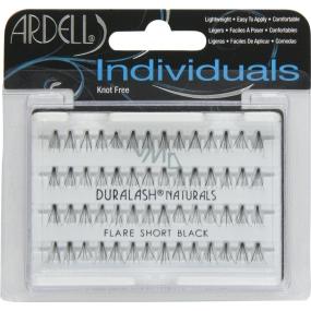 Ardell Duralash Naturals Flare Short Black umělé nalepovací trsy černé 56 kusů