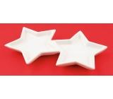 Hviezdy keramické na dekoráciu 17 cm
