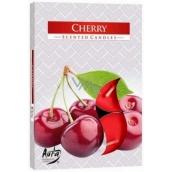 BISPOL Aura Cherry - Čerešne vonné čajové sviečky 6 kusov