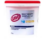 Savo 3v1 Maxi komplex Chlórové tablety do bazéna dezinfekcia 5 kg