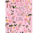 Nekupto Darčeková papierová taška 14 x 11 x 6,5 cm Love The Life 1734 30 KFS