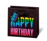 BSB Luxusná darčeková papierová taška 14,5 x 15 x 6 cm Happy Birthday LDT 397 - CD