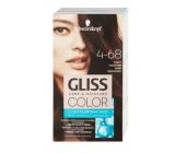 Schwarzkopf Gliss Color farba na vlasy 4-68 Tmavý mahagón 2 x 60 ml