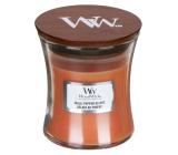 Woodwick Chilli Pepper Gelato - Zmrzlina s čiže a korením vonná sviečka s dreveným knôtom a viečkom sklo malá 85 g