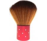 Kosmetický štětec na pudr červená rukojeť 7 cm 30450