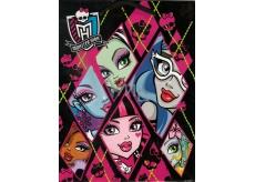 Ditipo Darčeková papierová taška 18 x 10 x 22,7 cm Disney Monster Hight čierno-ružová