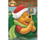 Ditipo Disney Darčeková papierová taška pre deti L Macko Pú zelený veniec 26 x 13,5 x 32 cm