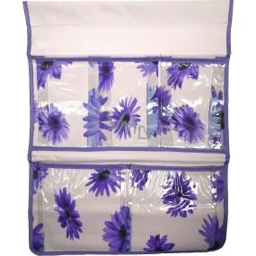 Kapsář do koupelny závěsný fialový 48 x 36 cm 5 kapes 671