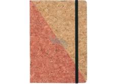 Albi Korkoblok linkovaný Růžovo zlatý 80 stran 14,7 x 21 x 1,5 cm