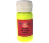 Farba na textil svietiace 71 neon žltá Art E Miss 40g