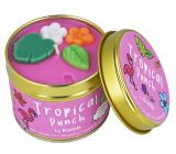Bomb Cosmetics Tropický punč - Tropical Punch Vonná prírodné, ručne vyrobená sviečka v plechovej dóze horí až 35 hodín