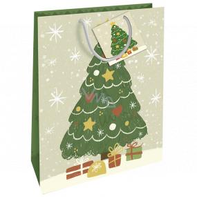 Nekupto Darčeková papierová taška 32,5 x 26 x 13 cm Vianočný stromček WBL 1956 50