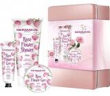 Dermacol Rose Flower Ruže krém na ruky 30 ml + sprchový gél 200 ml + telové maslo 75 ml, kozmetická sada
