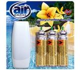 Air menłinu Seychelles Vanilla Happy Osviežovač vzduchu komplet + náplne 3 x 15 ml sprej