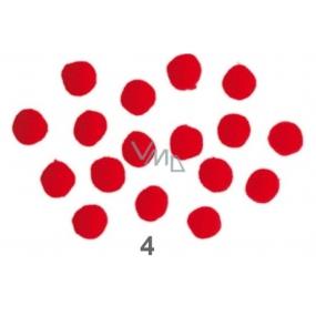 Bambuľky Červené 2,5 cm 18 kusov