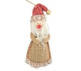 Santa z juty na zavesenie 13 cm