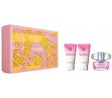 Versace Bright Crystal toaletná voda pre ženy 50 ml + telové mlieko 50 ml + sprchový gél 50 ml darčekový set
