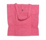 Albi Eko taška vyrobená z pratelného papiera skladacie - ružová 37 cm x 37 cm x 9,5 cm