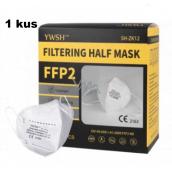 YWSH Respirátor ústnej ochranný 4-vrstvový FFP2 tvárová maska 1 kus