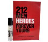 Carolina Herrera 212 Men Heroes toaletná voda pre mužov 1,5 ml s rozprašovačom, vialka