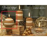 Lima Zimní třpyt Skořice vonná svíčka koule průměr 80 mm 1 kus