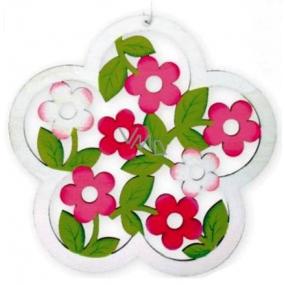 Kvet vyrezávaný biely na zavesenie 18 cm 1 kus