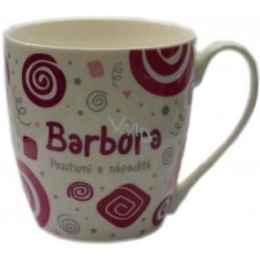 Nekupto Twister hrnek se jménem Barbora růžový 0,4 litru