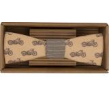 Bohemia Gifts & Cosmetics Dřevěný motýlek Motorkář 12,5 cm