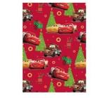 Ditipo Darčekový baliaci papier 70 x 200 cm Vianočný Disney Autá červený