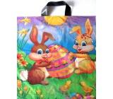 Press Zajíčci a vajíčko Velikonoční igelitová taška s uchem 45 x 50 cm 1 kus